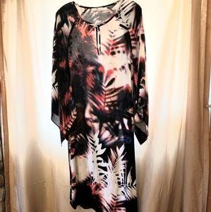 Burnout Palms Dress